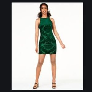 B. Darling Green Velvet like Embellished Dress
